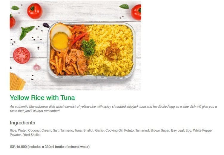 Citilink Airlines Airline Food Information For Passengers