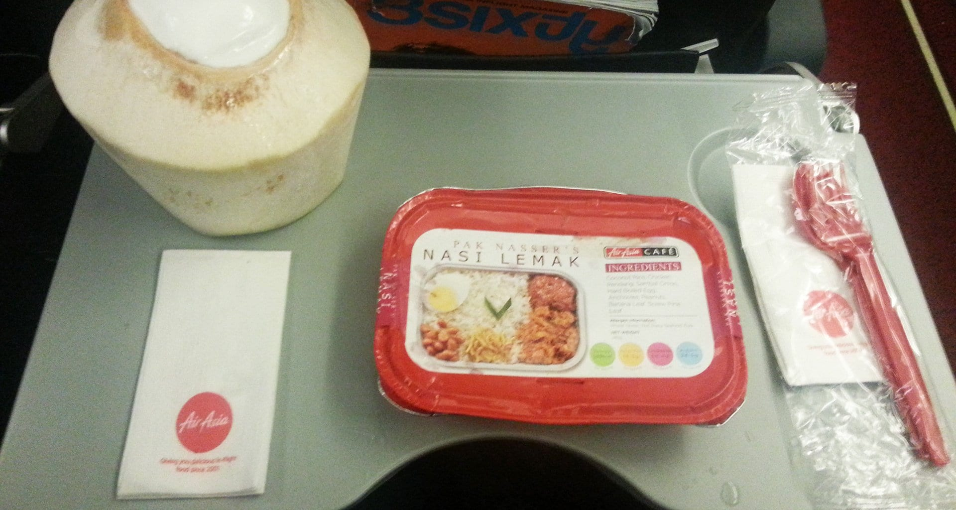 air asia inflight meal