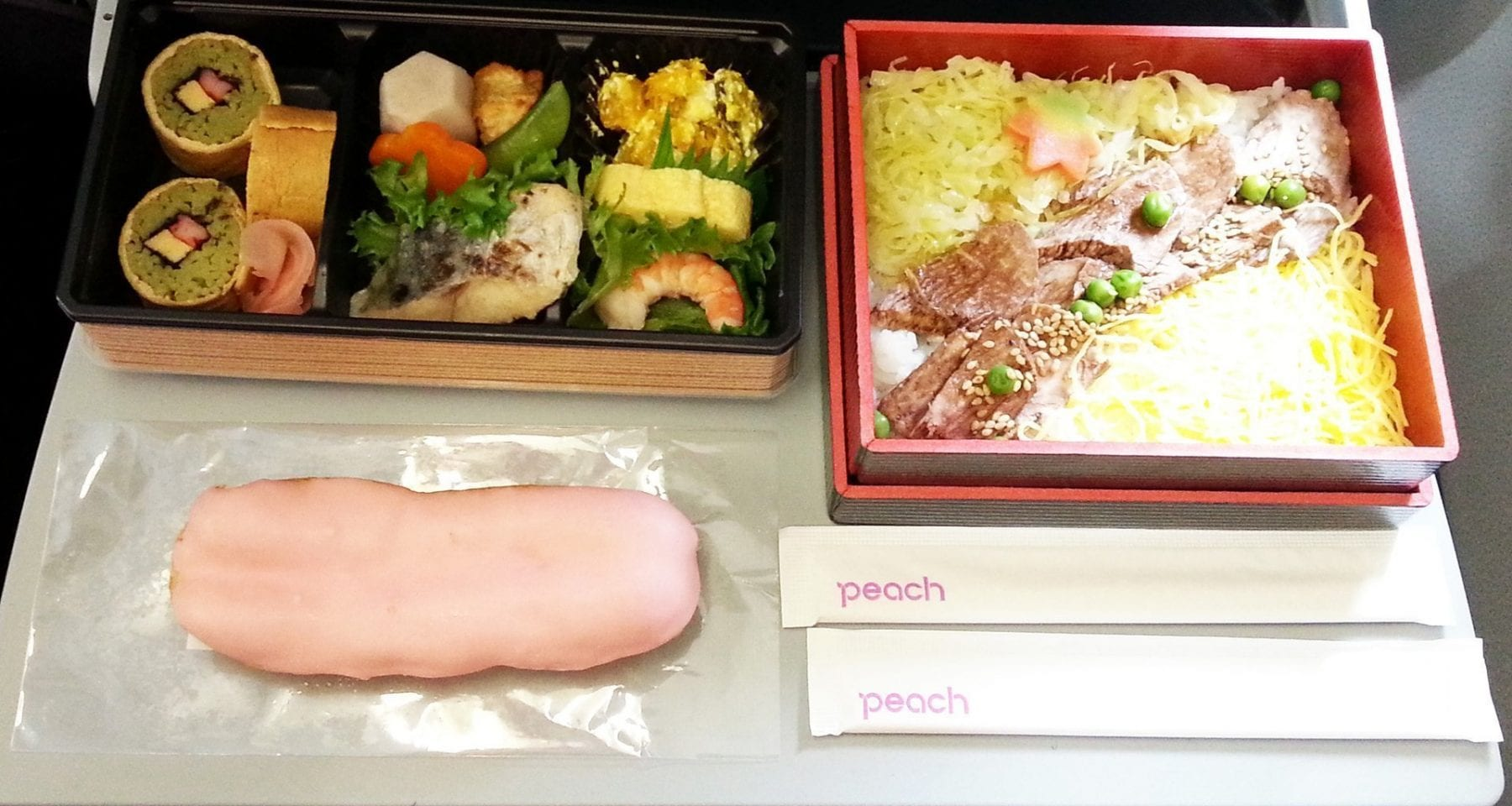 Inflight meals on Japanese Airline Peach