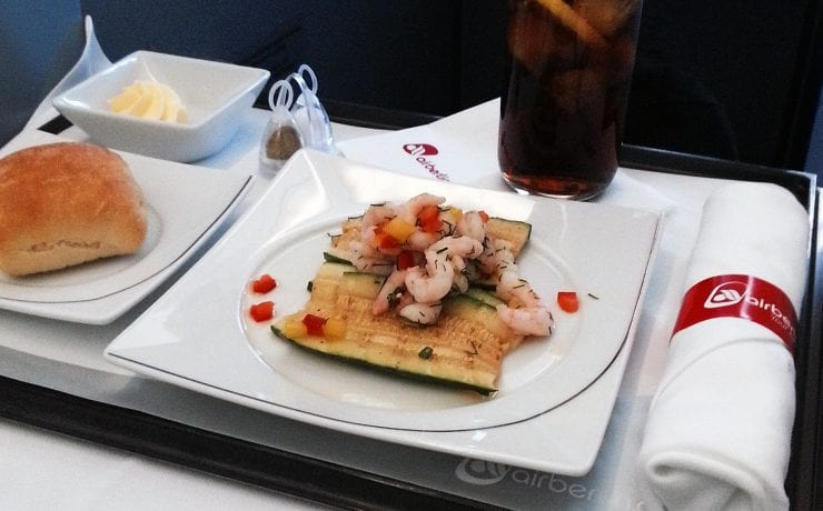 Air Berlin business class entree
