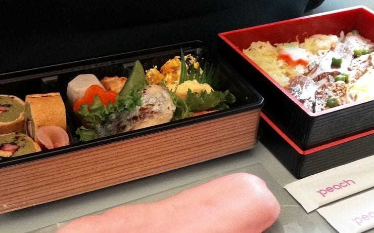 Peach Airlines inflight meals