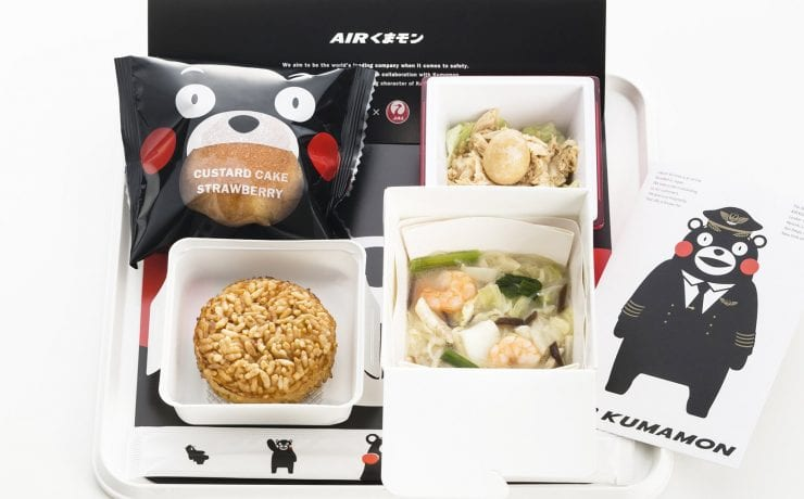 Japan airlines Air Kumamon meals