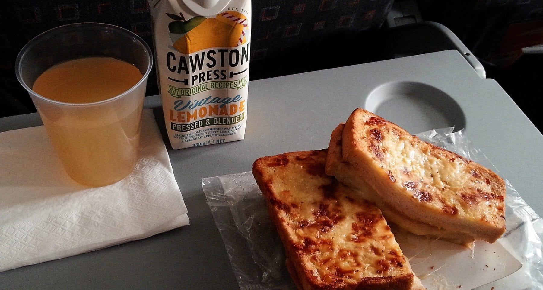 easyjet hot food offering