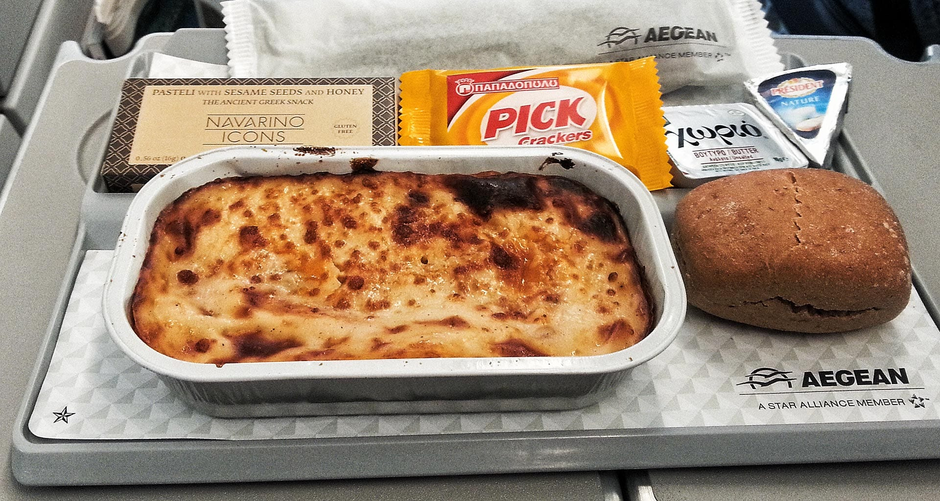 Aegean Airlines economy class meals