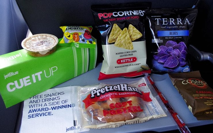 jetblue inflight snacks