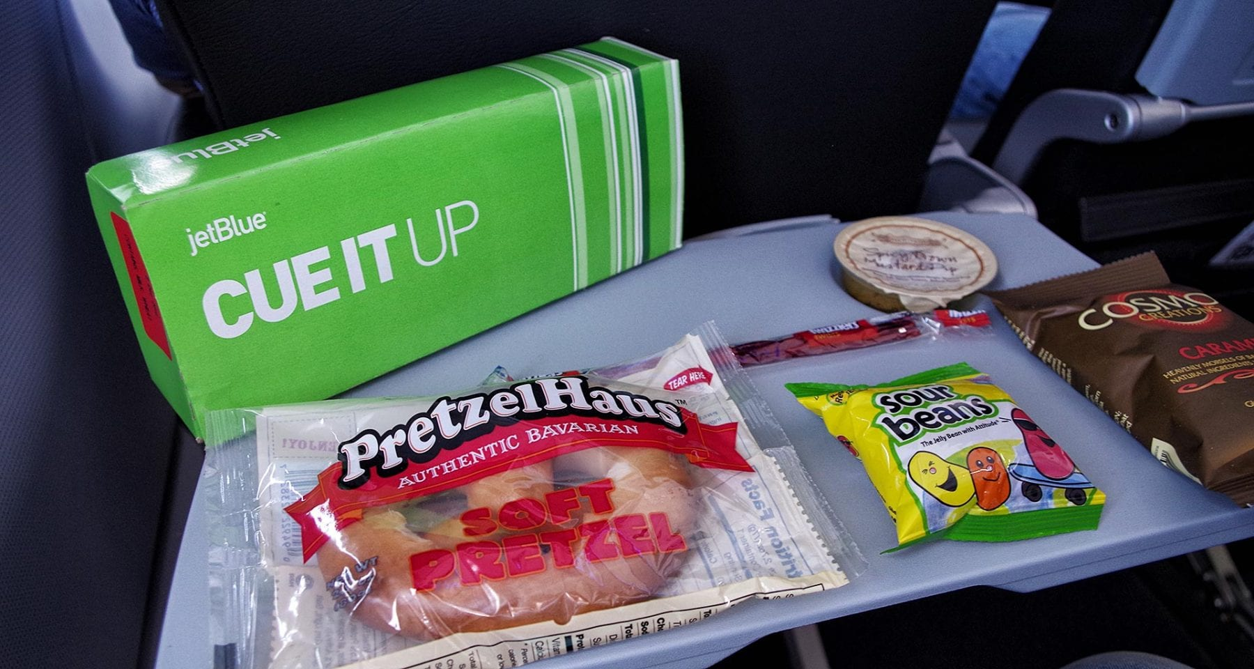 Jetblue cue it up snack box economy class