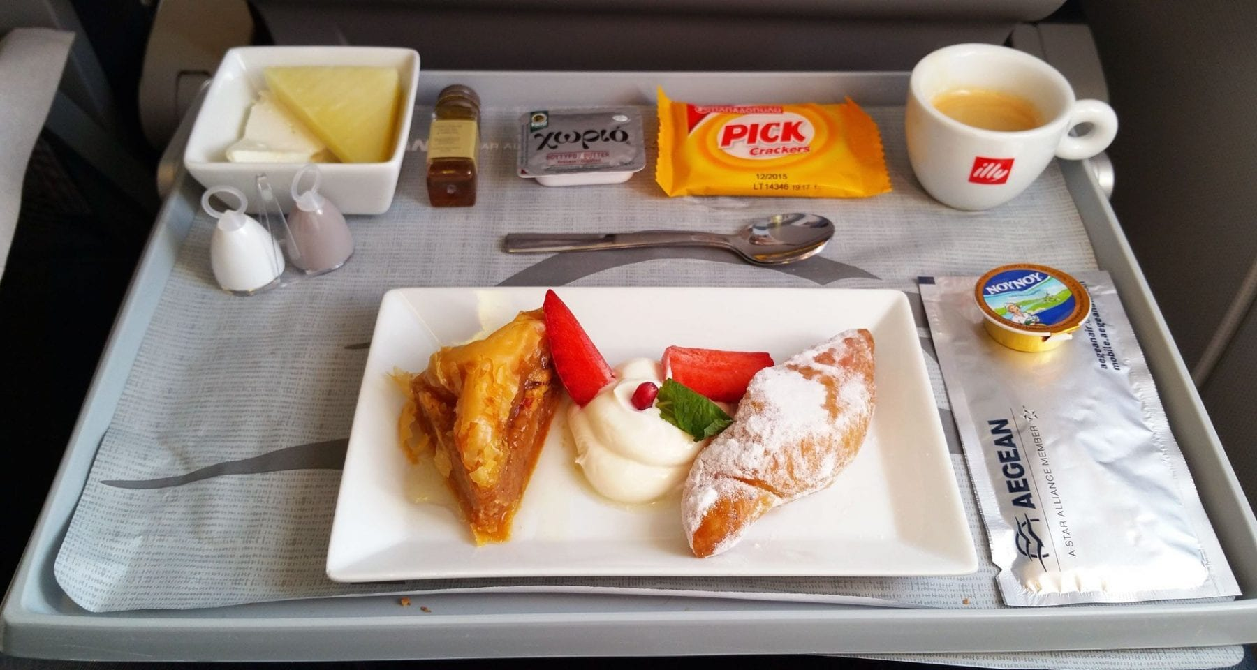 Aegean airlines business class desserts