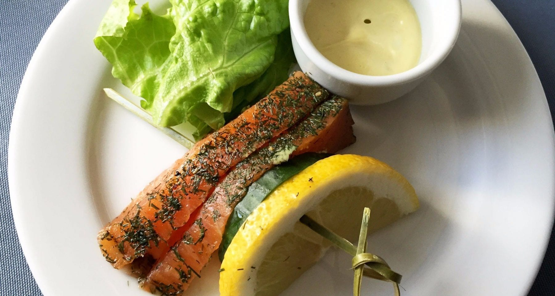 united airlines business class salmon meal