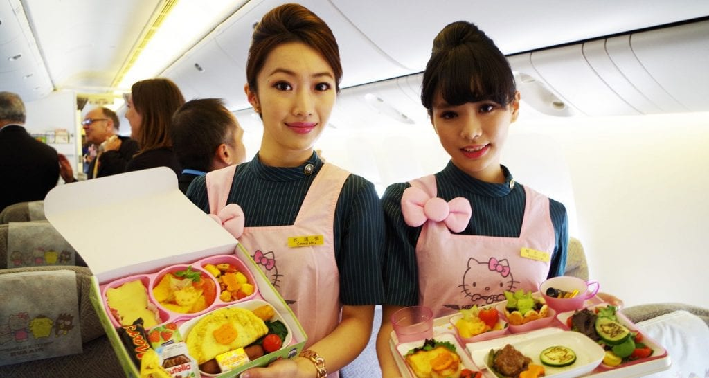 cabin crew hello kitty apron