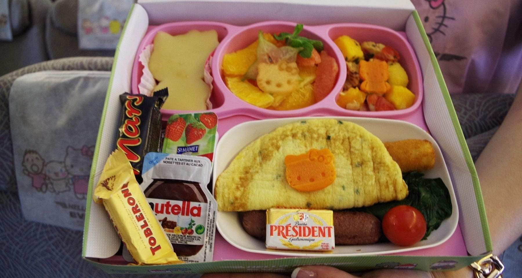 Eva Air Hello Kitty childrens meal