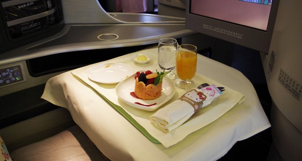 hello kitty inflight meals business class