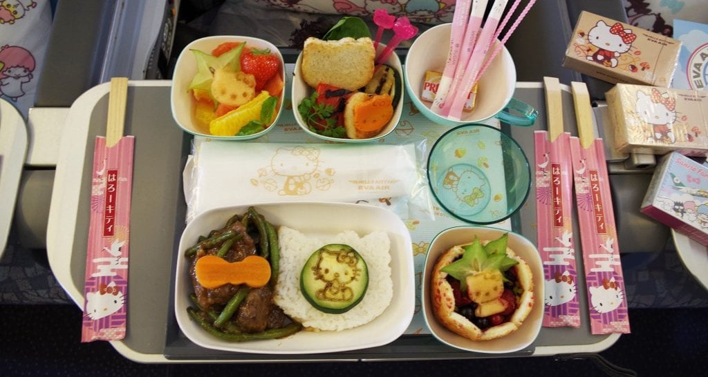 hello kitty inflight meals