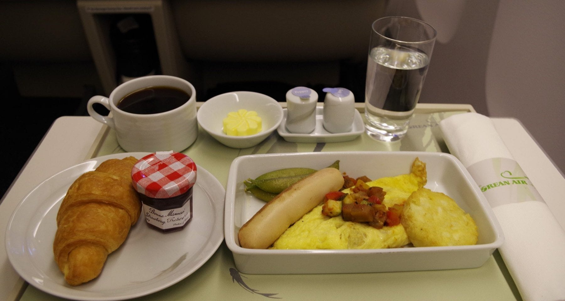 korean air breakfast business class