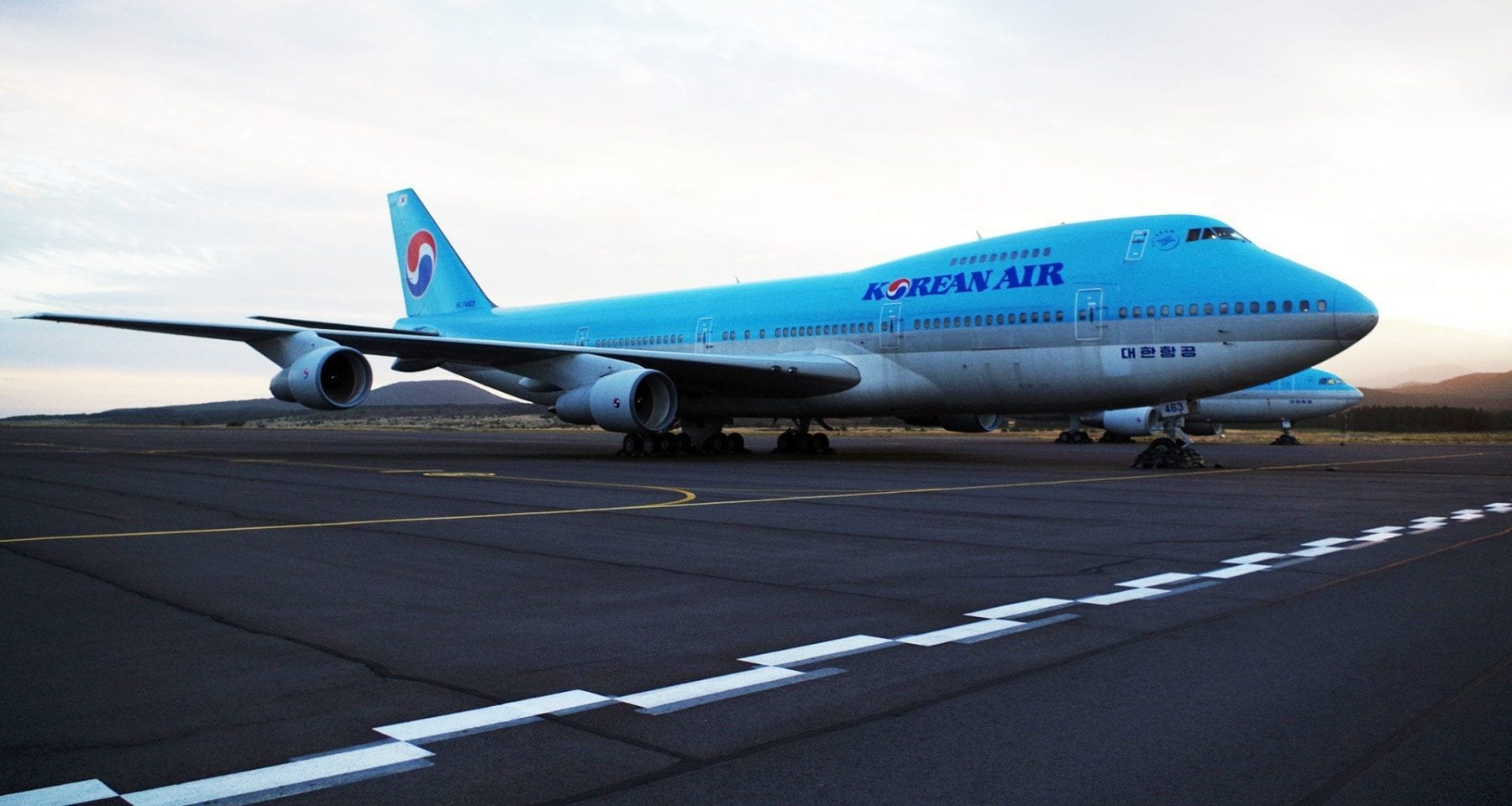 First 747 for Korean Air located on Jeju Island Korea