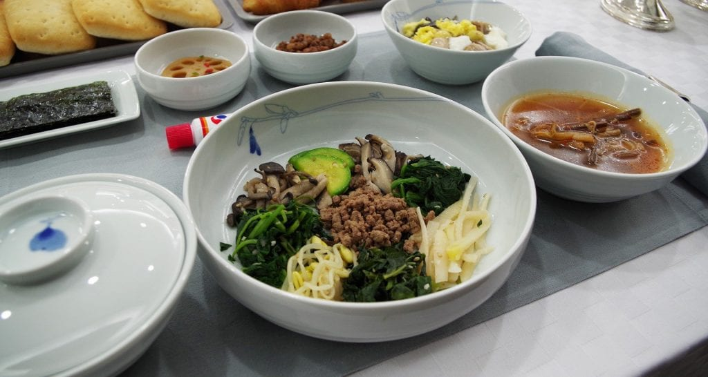 Korean Air First Class Bibimbap