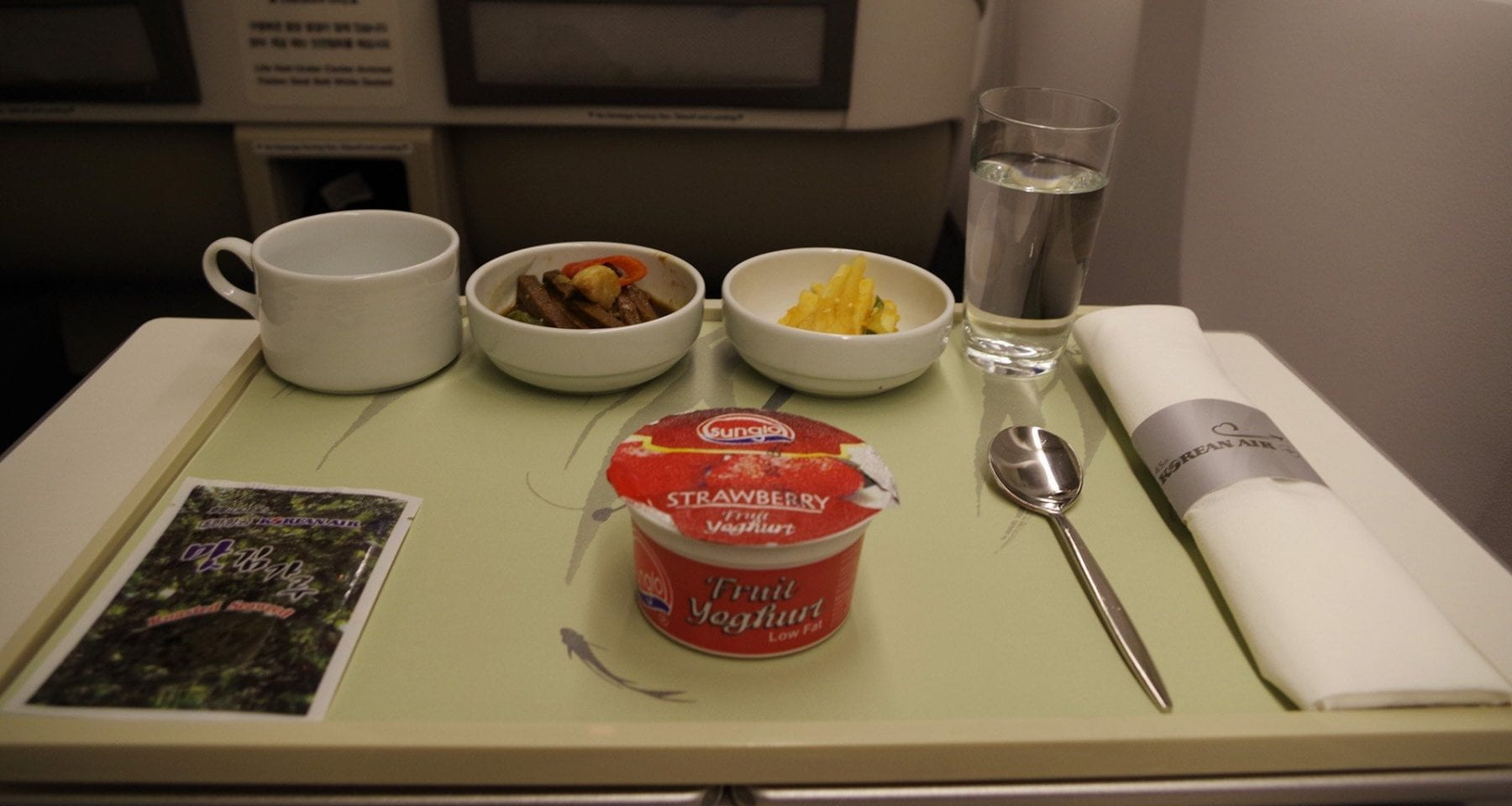 korean air yoghurt business class