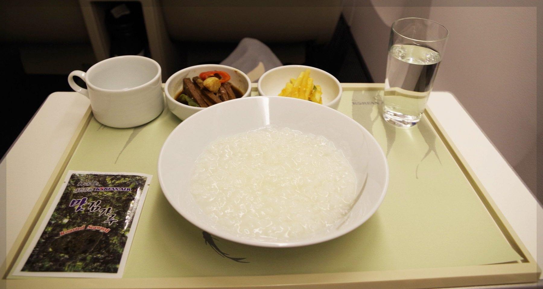 Korean Air inflight porridge business class