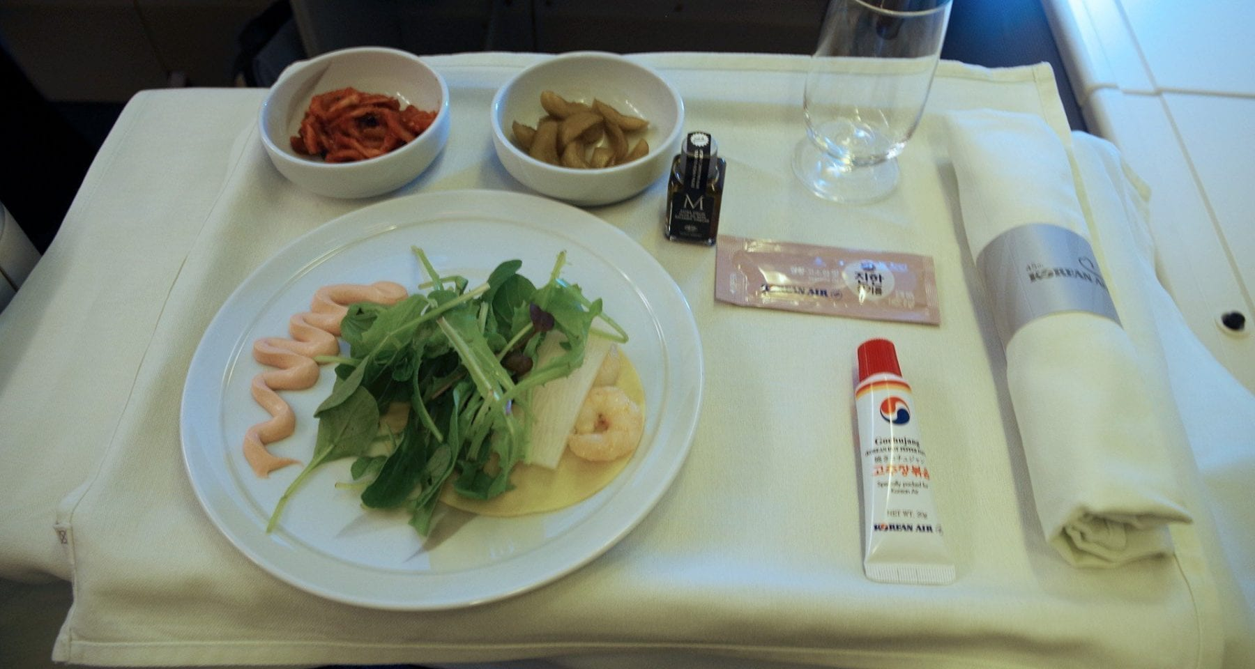 Korean air entree salad business class