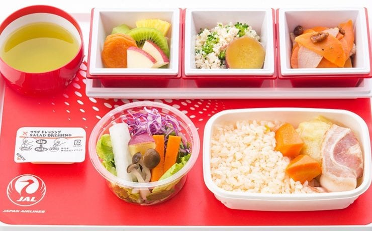 Japan airlines economy class western meal