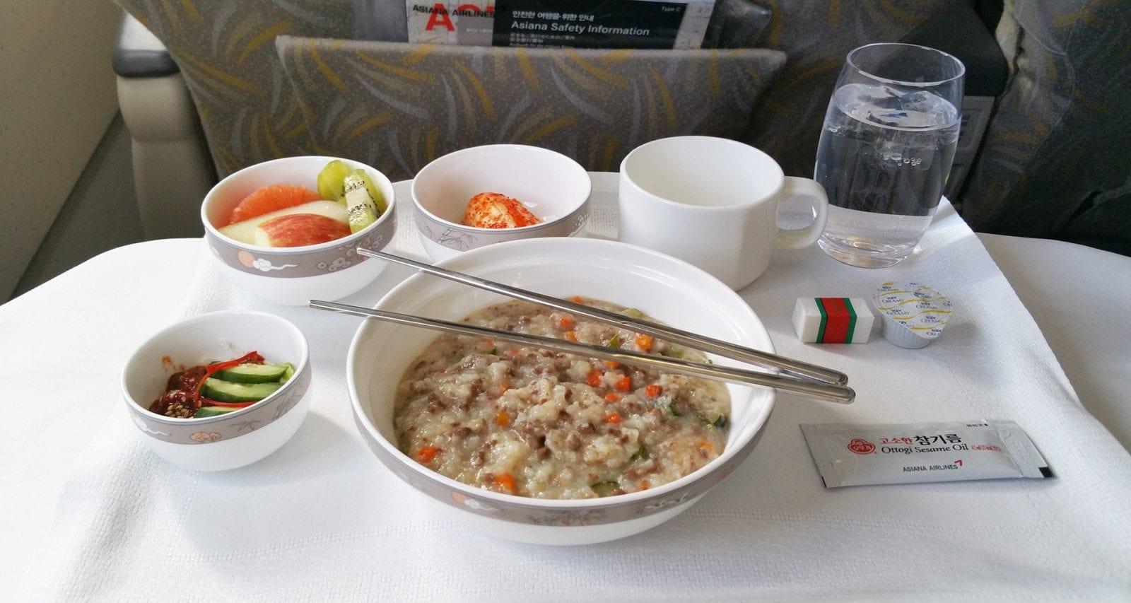 asiana inflight breakfast business class