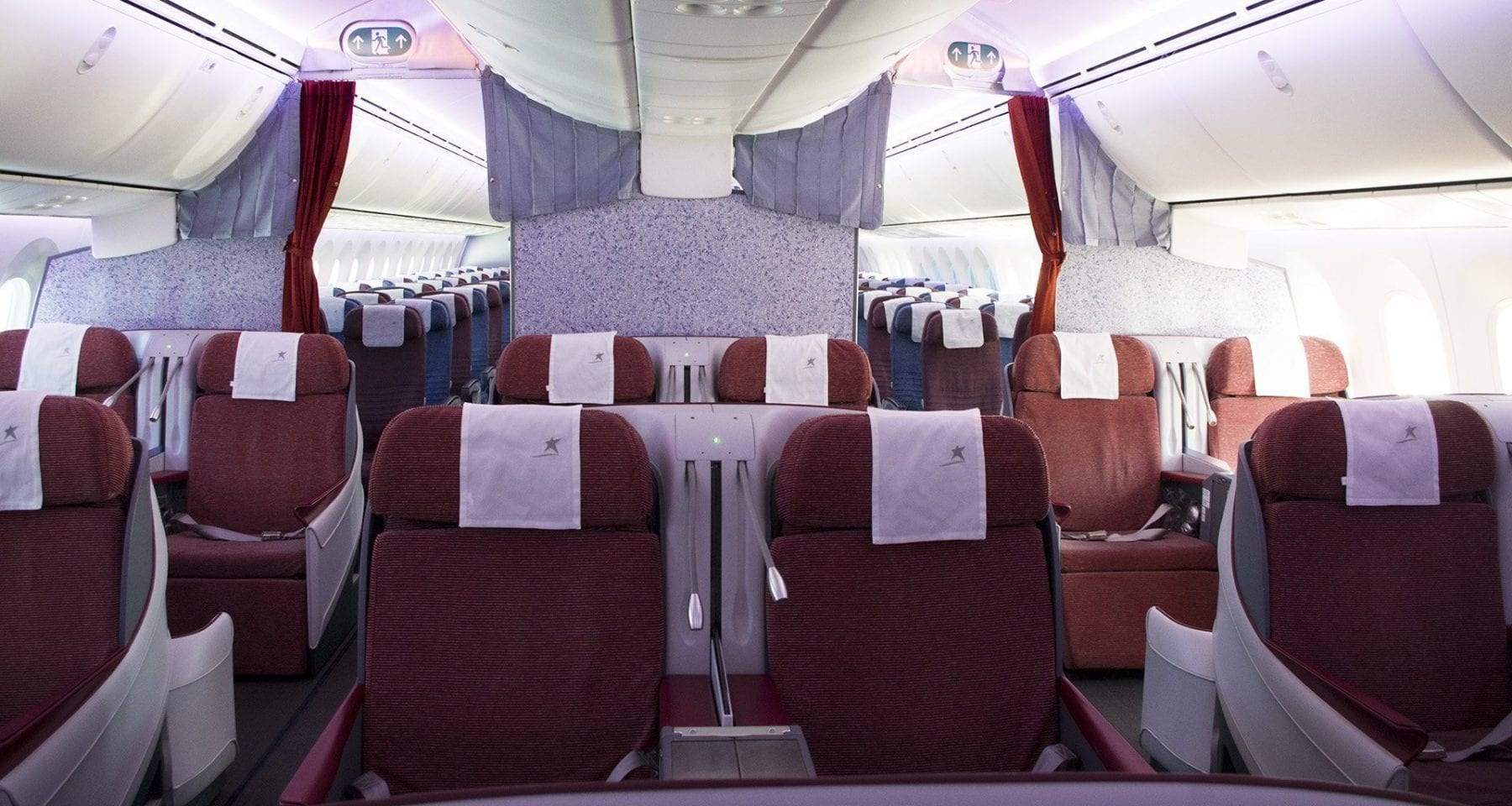 Lan Chile Business class cabin boeing 787