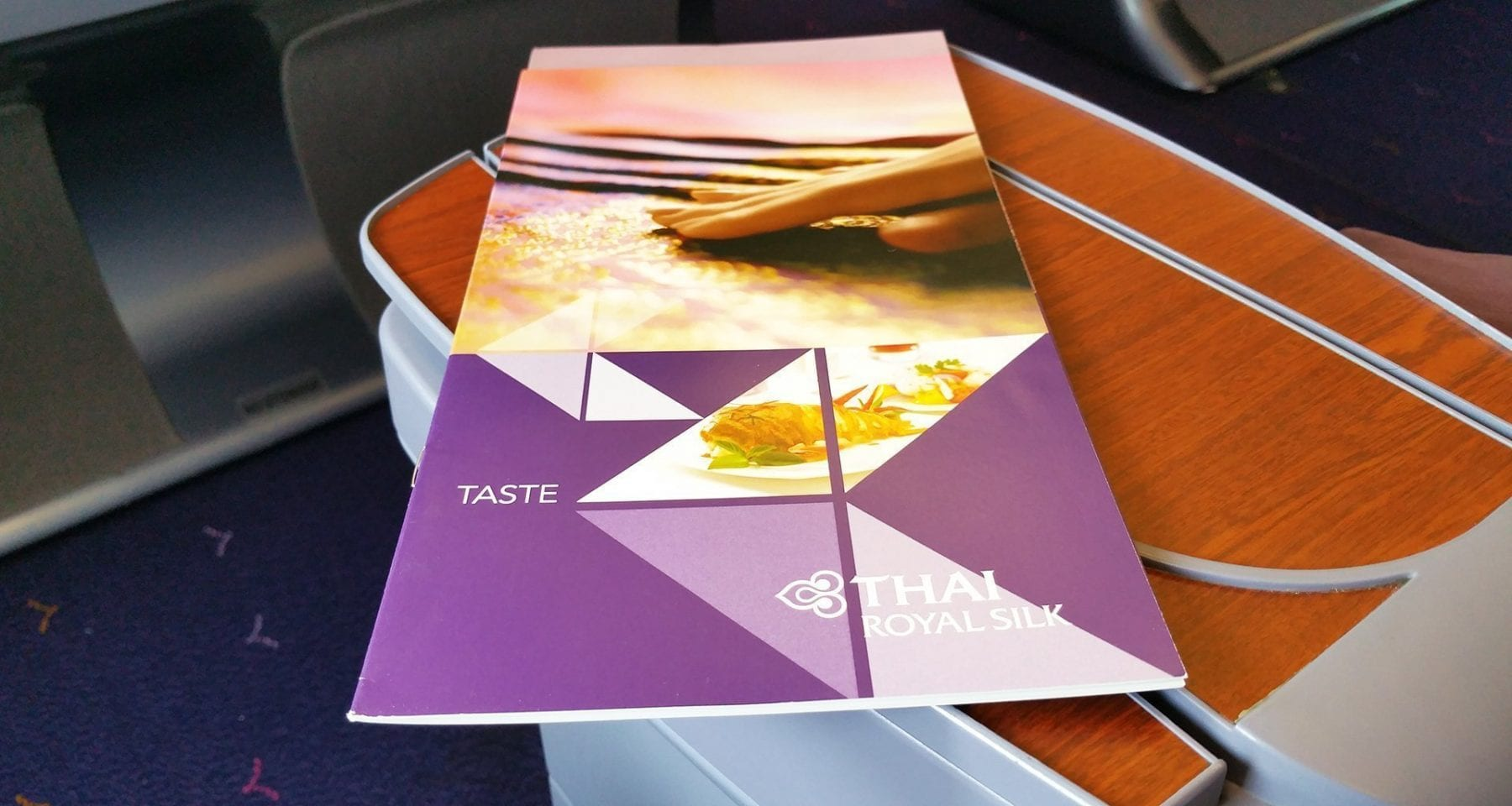 Thai airways inflight menu business class