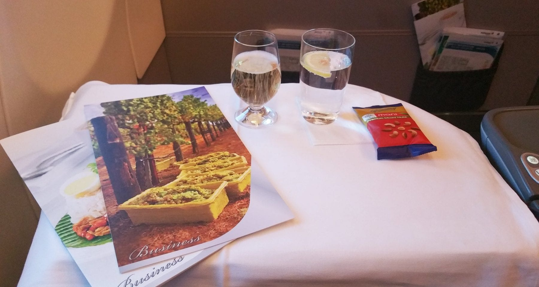 Malaysia airlines business class inflight menu