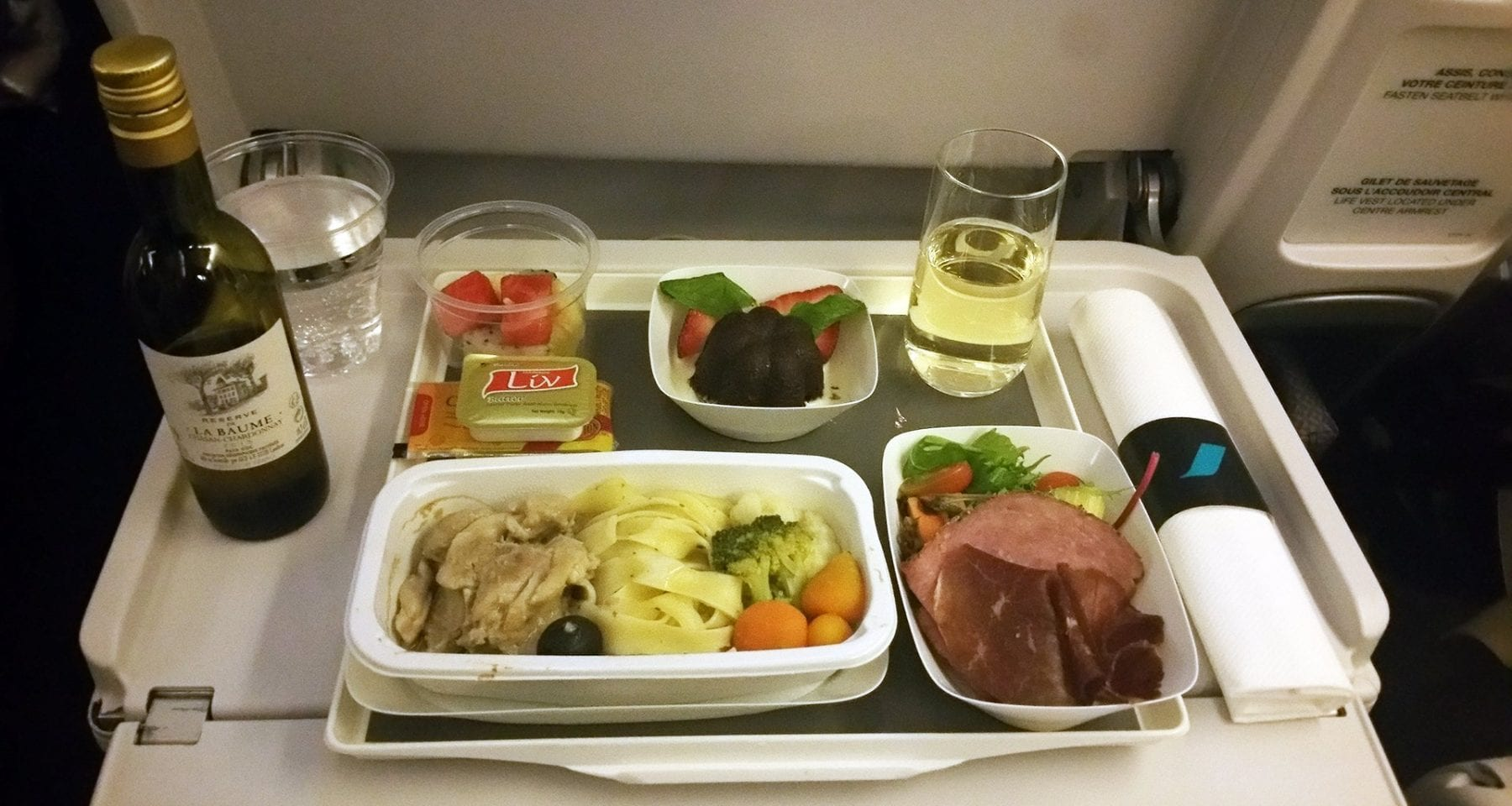 air france premium economy meal
