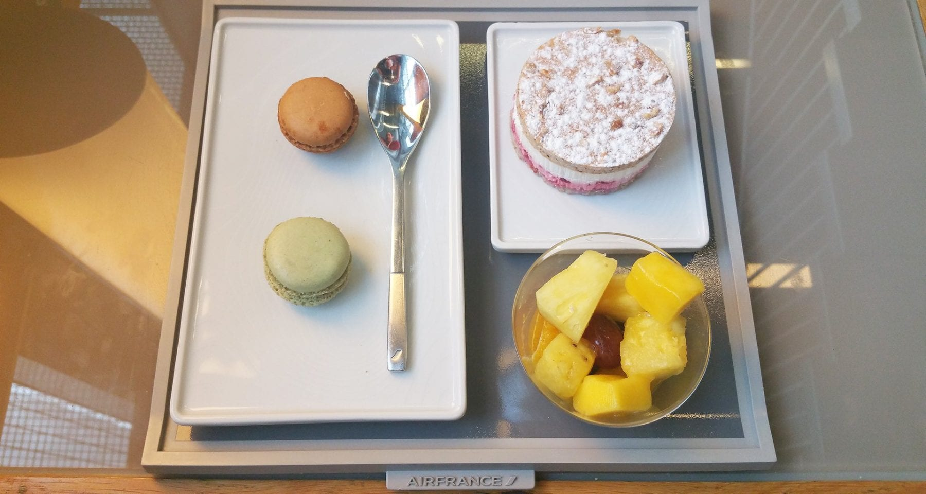 air france lounge food desserts paris cdg airport