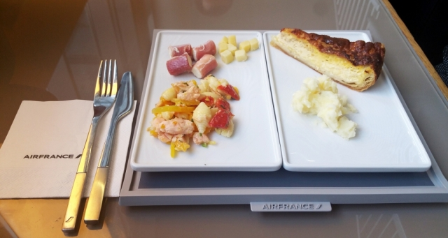 AIr France lounge food Paris