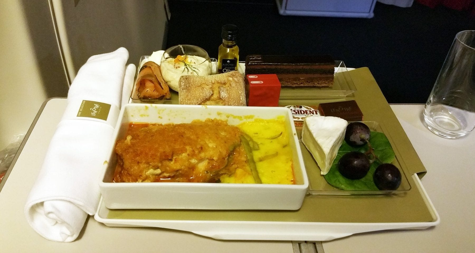 air france lenotre meal