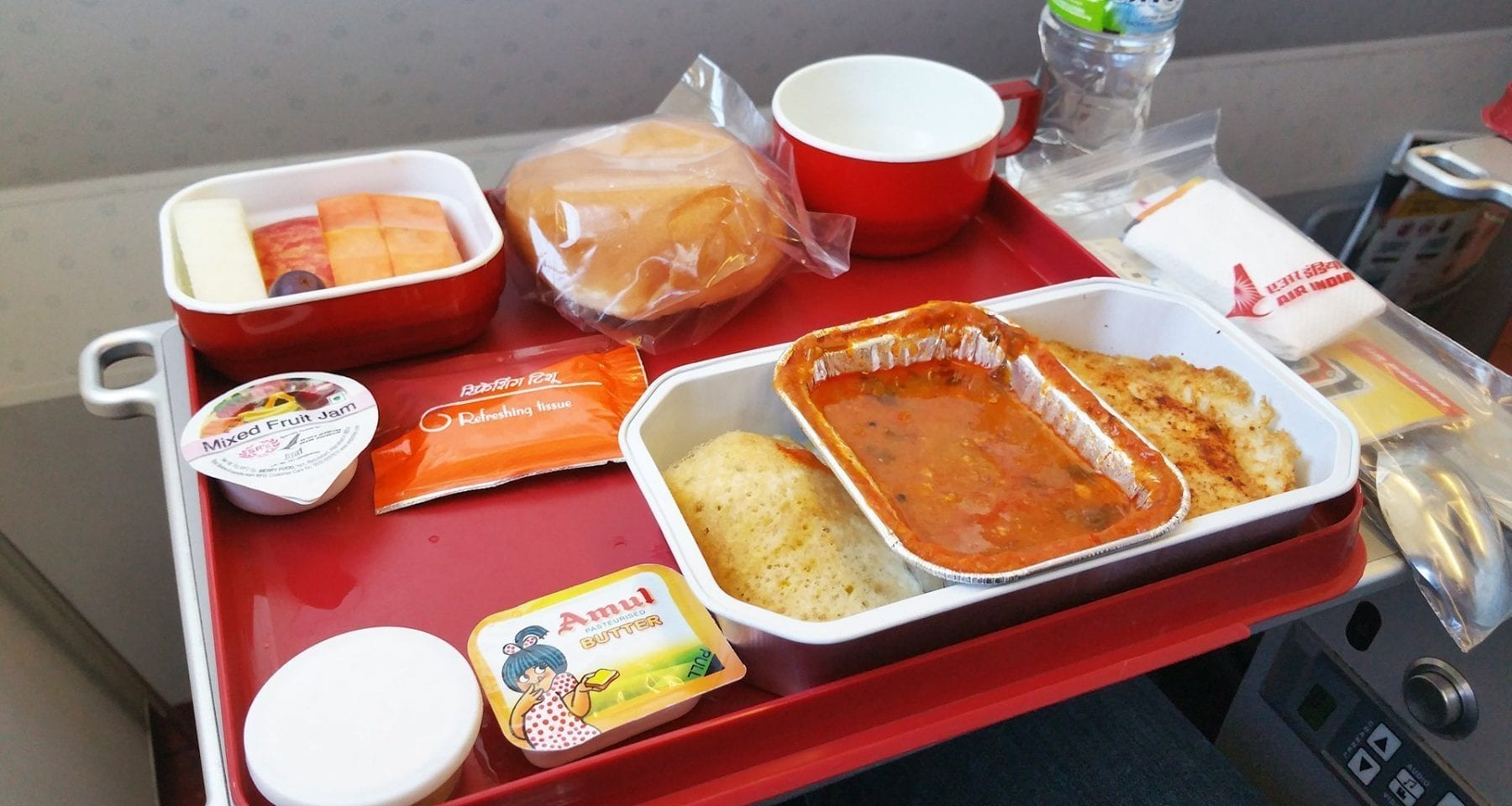 air india economy class breakfast