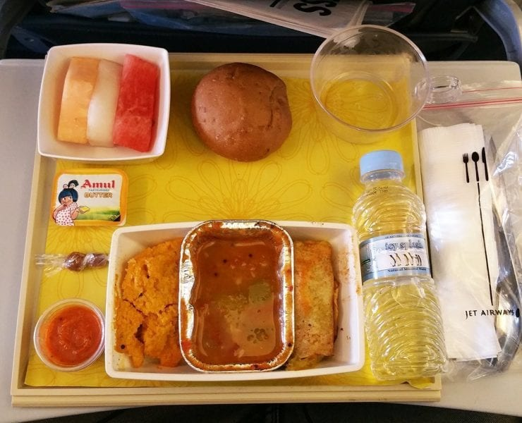 Jet Airways economy class meal