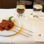 Malaysia airlines inflight satay business class