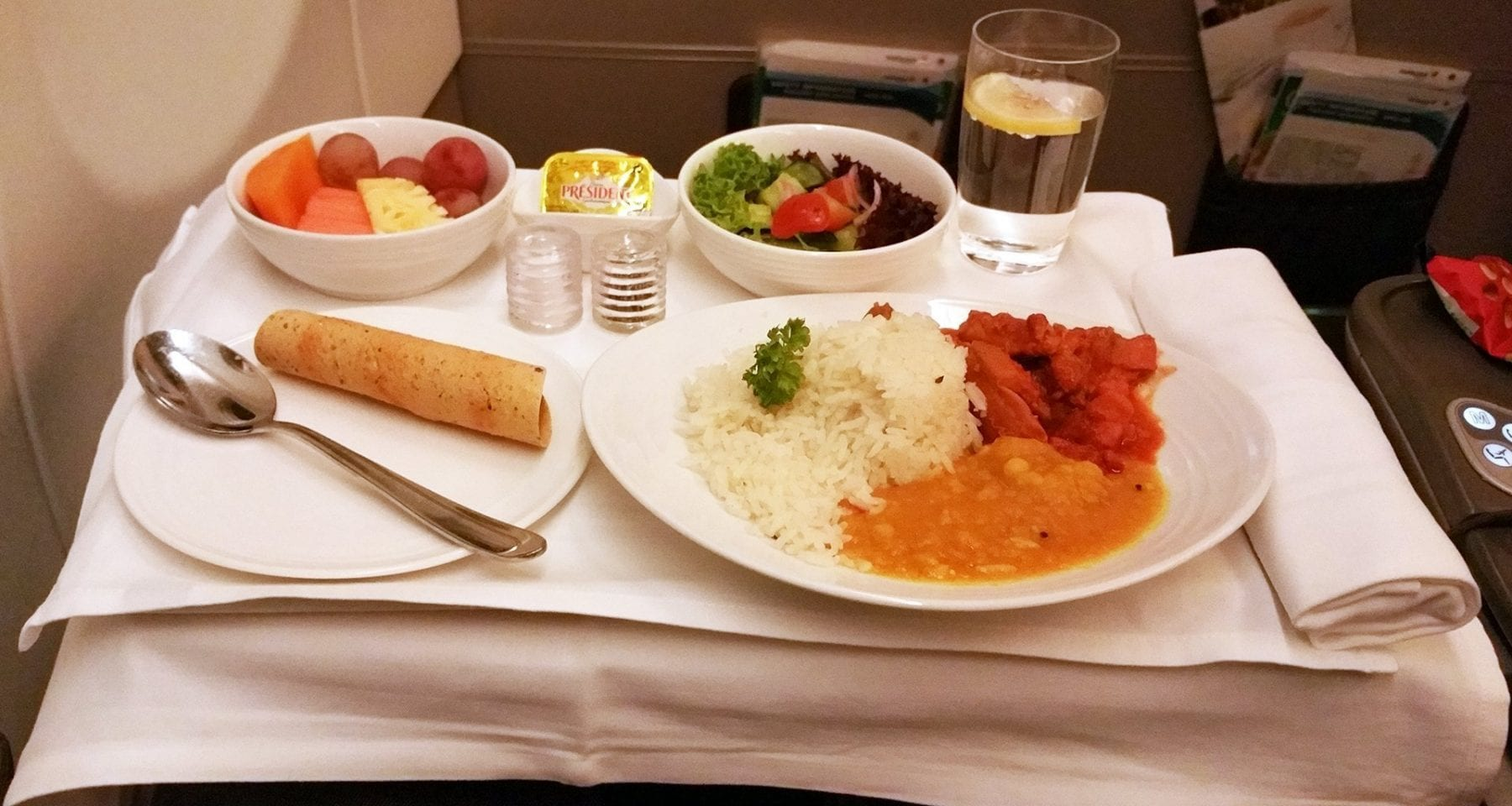 Malaysia airlines business class main meal