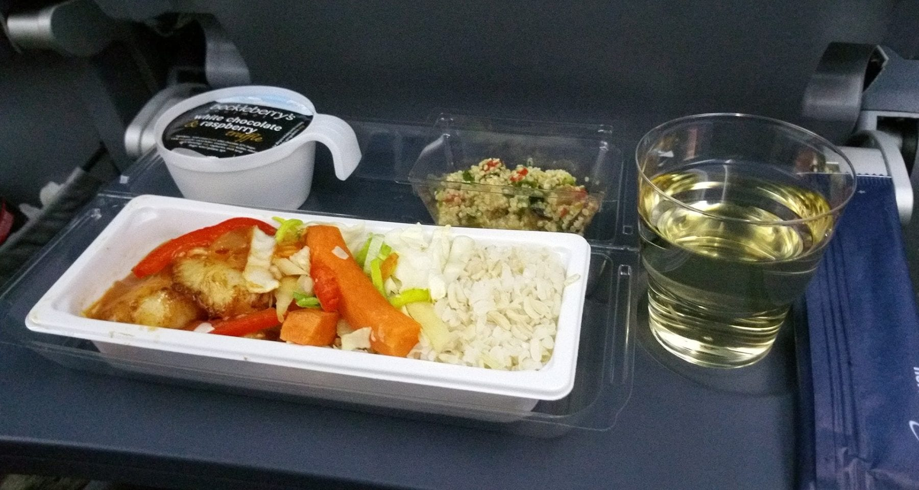 Nowergian airlines premium economy class meal