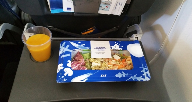 sas inflight meal salad