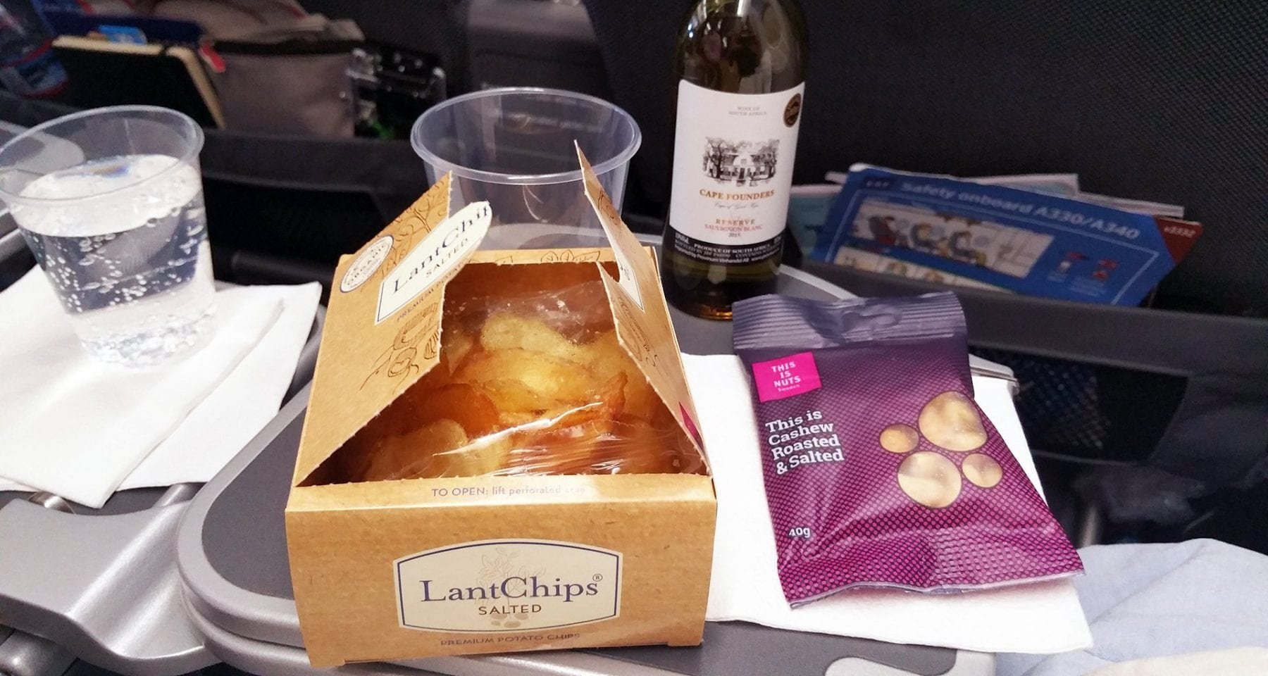 SAS Scandinavian airlines premium economy class snacks