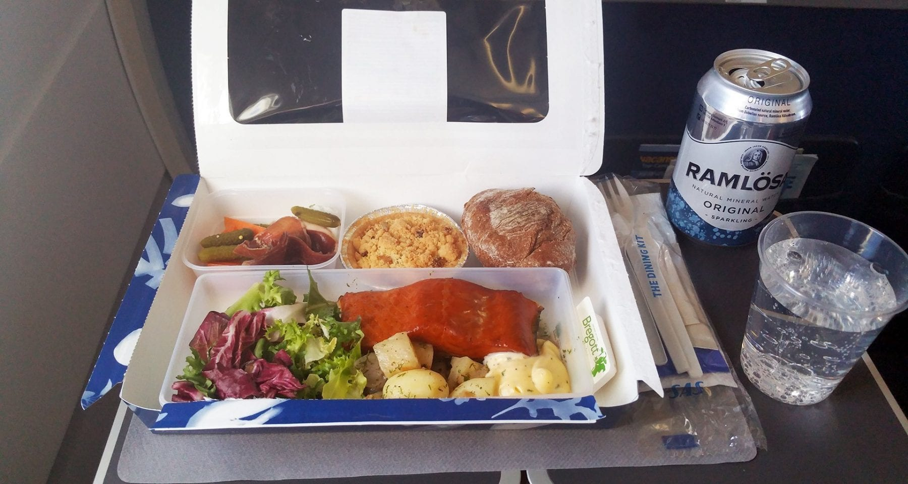 SAS Scandinavian airlines economy class paid meal