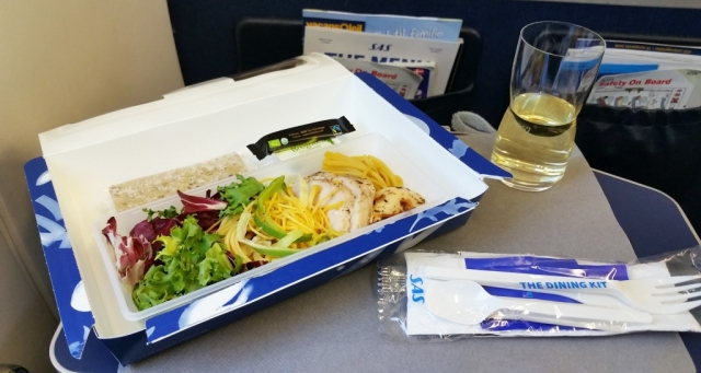 sas airlines inflight salad