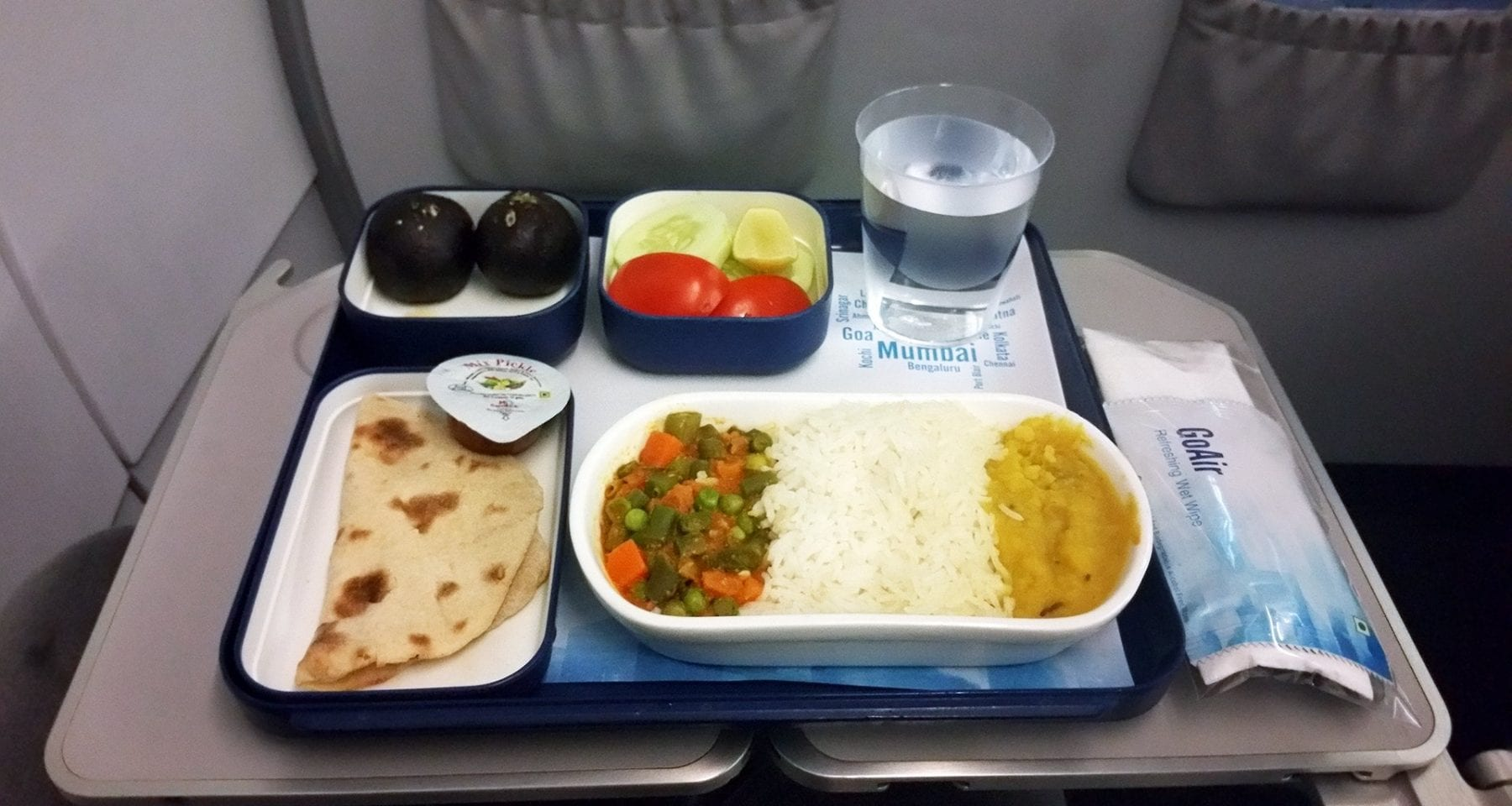 Go Air India business class meal