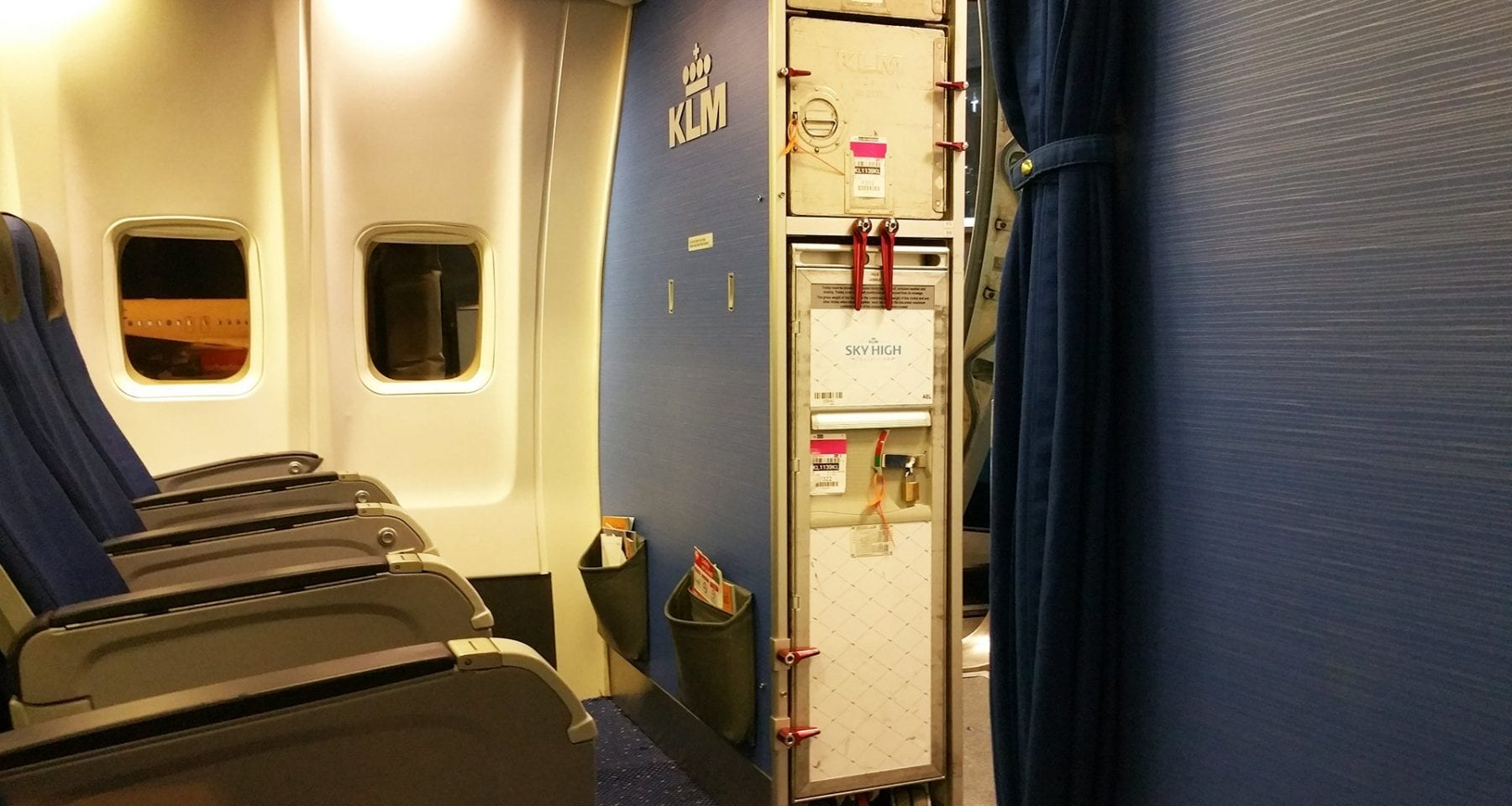 KLM Boeing 737 business class interior