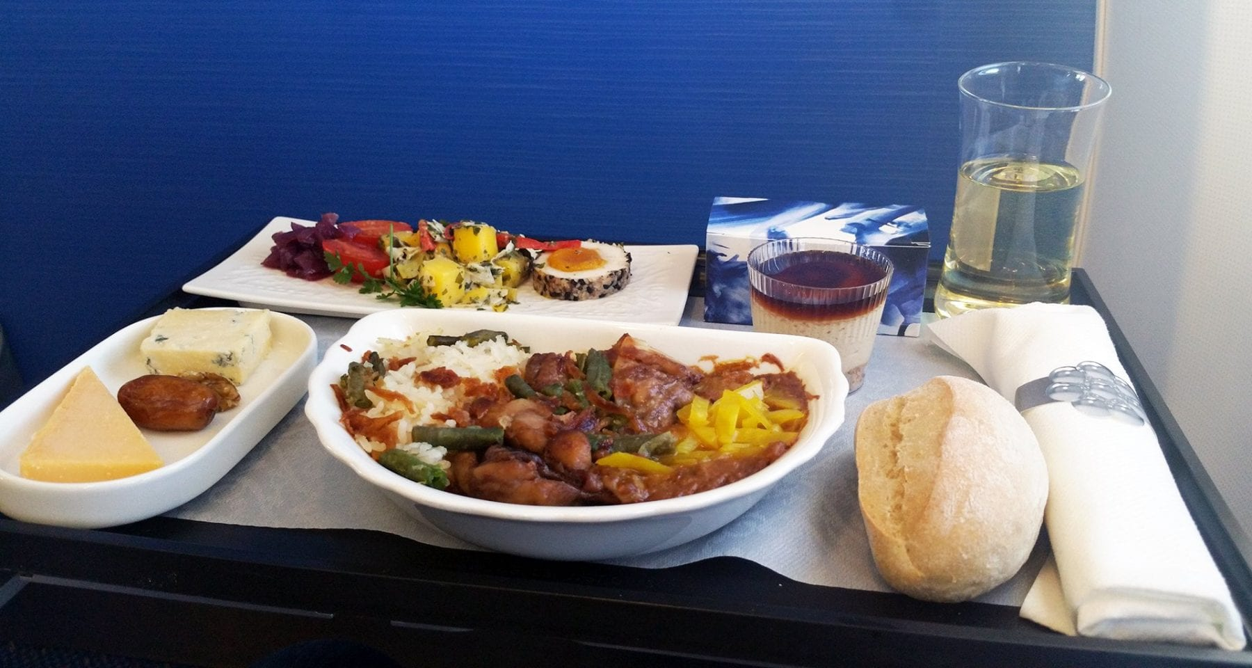 KLM inflight dinner business class