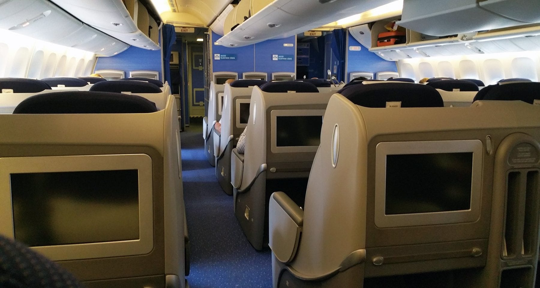 KLM Boeing 777 interior business class