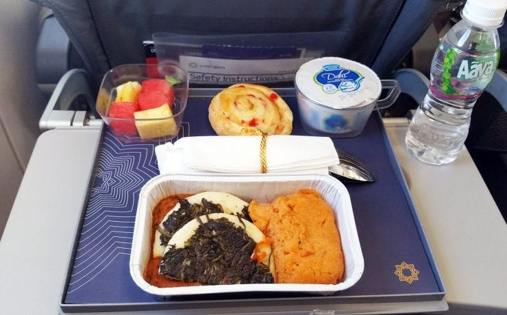 Vistara Airlines premium economy class meal