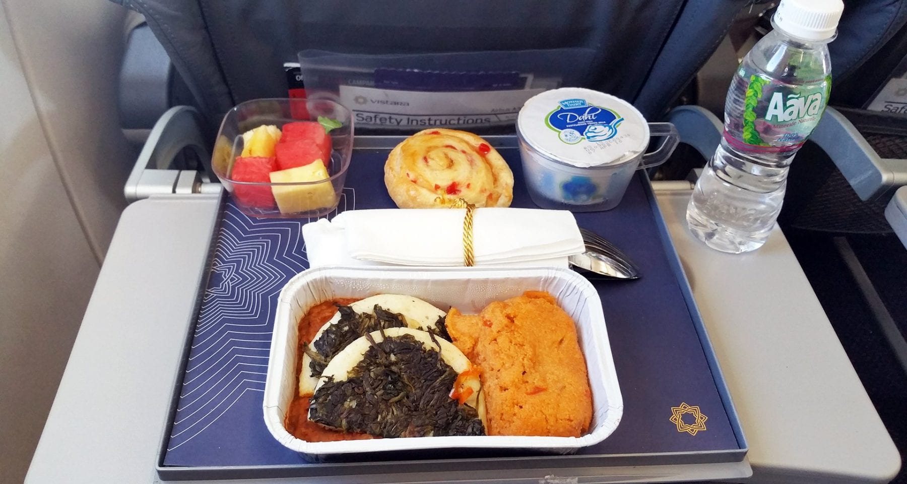 Vistara inflight meal review