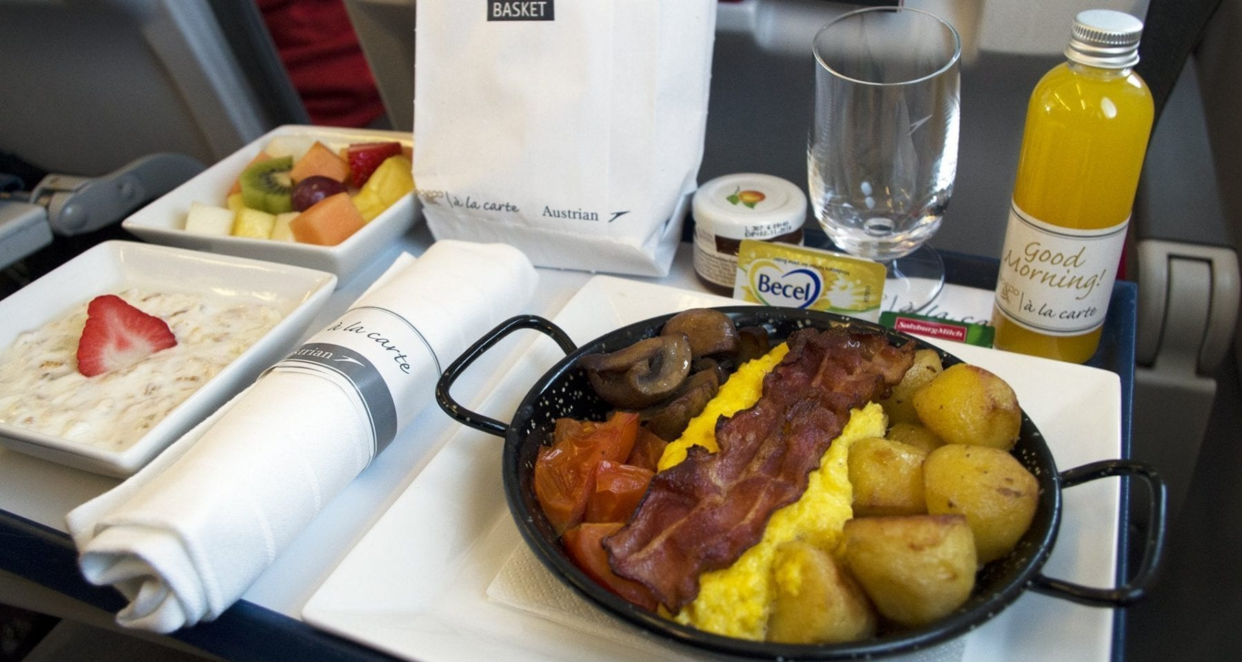 Austrian airlines do&co pre order meal breakfast