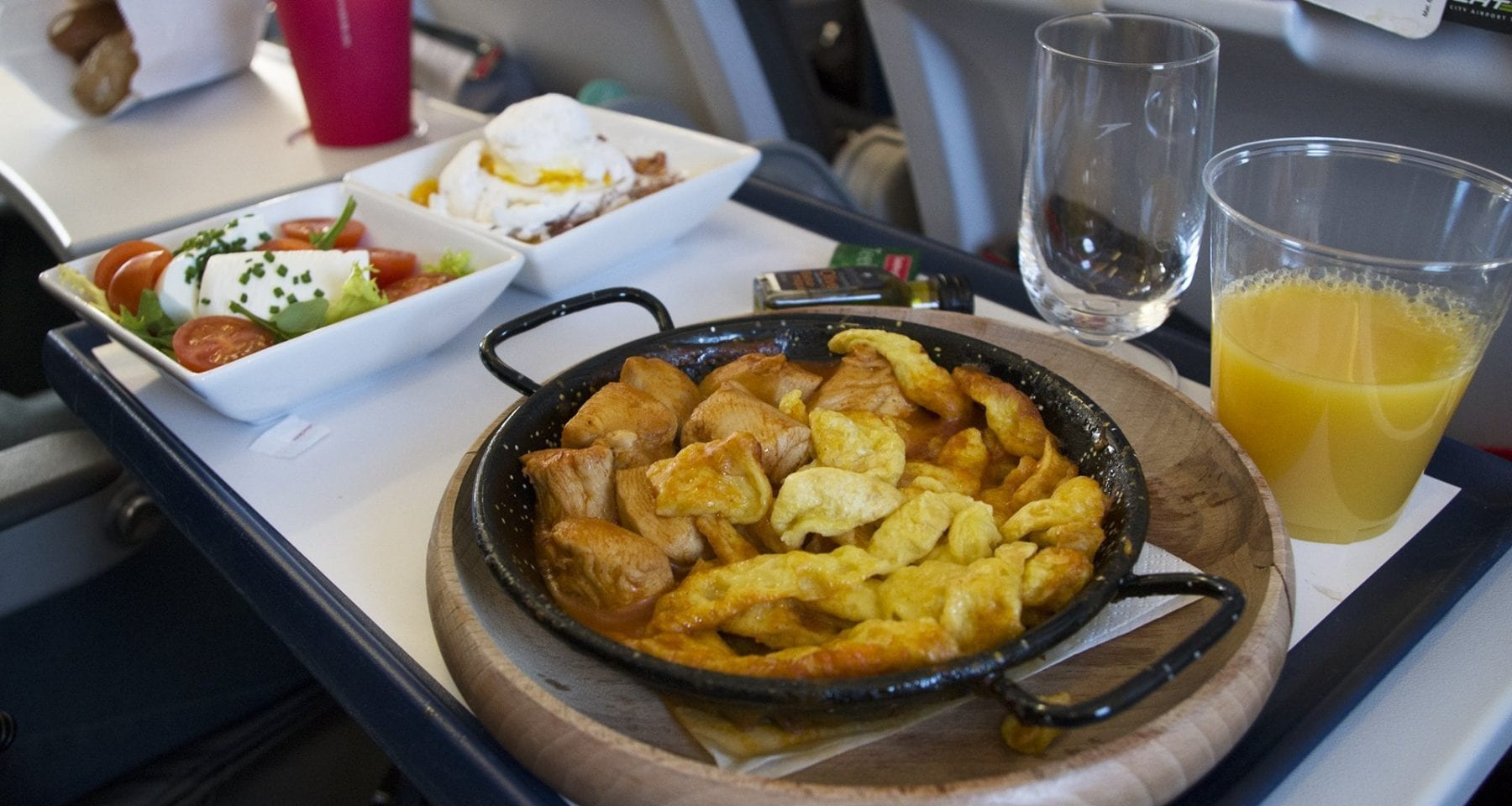 austrian airlines chicken meal pre order upgrade do&co