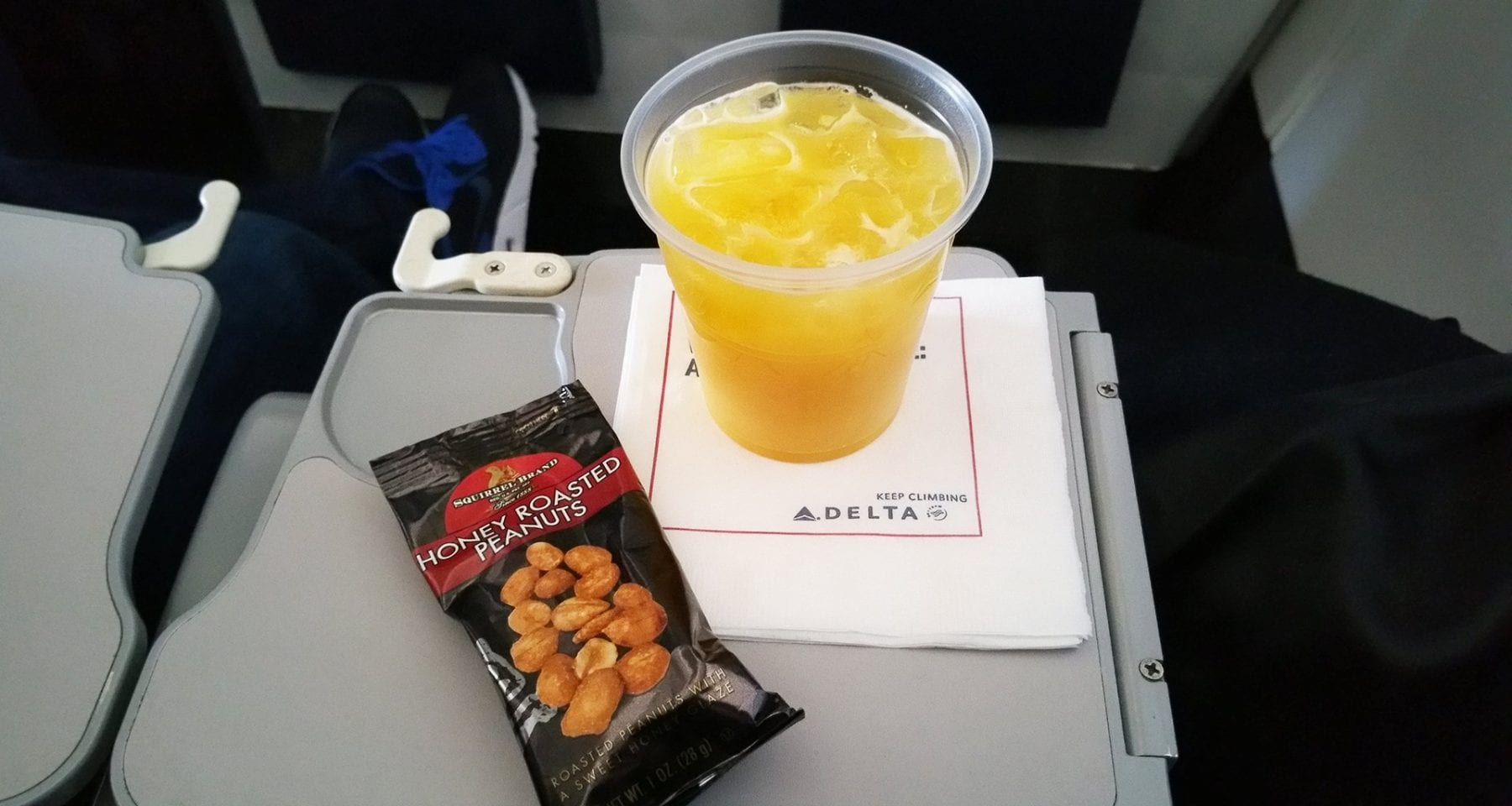 Delta airlines orange juice and nuts