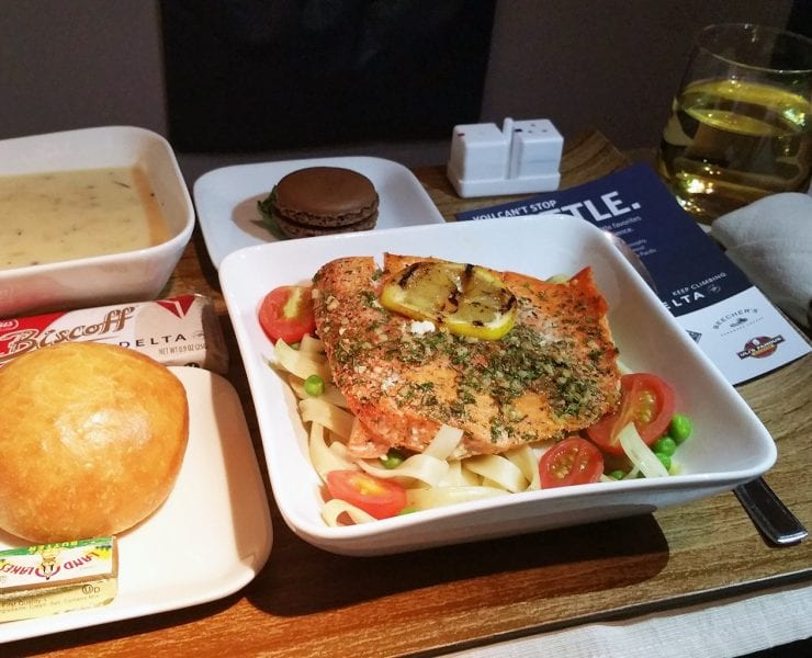 Delta First Class Inflight Meal
